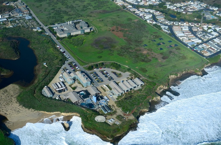 aerial image of the Coastal Science Campus