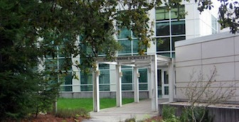 image of front entrance to earth and marine sciences building